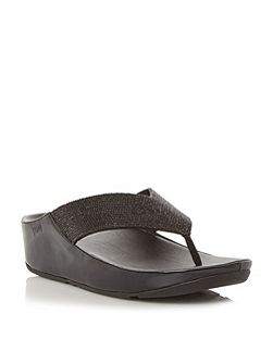 Crystall toe post sandals