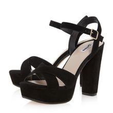 Dune Mexico cross strap platform sandals