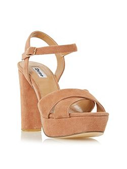 Mexico cross strap platform sandals