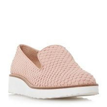 Dune Garnish slipper cut flatform trainers