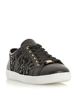 Elley laser cut lace up trainers