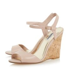 Dune Montecarlo cork effect wedge sandals