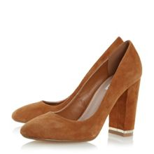 Dune Adriane square toe block heel courts