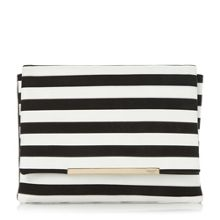 Dune Bennie wide stripe clutch bag