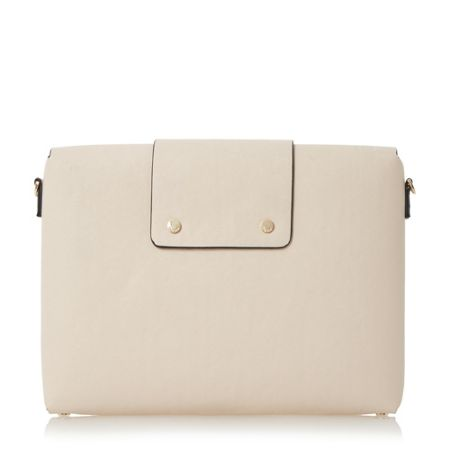Dune Ezzra raw edge foldover clutch bag