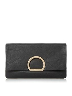 Elex circular detail flapover clutch bag