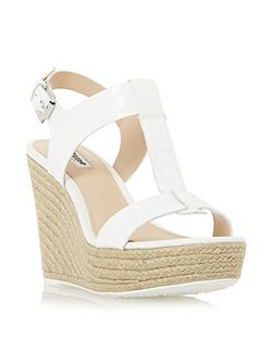 Kelby t-bar espadrille wedge sandals