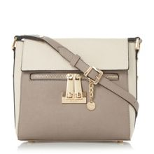 Dune Diaz colour block cross body bag