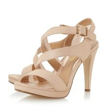 Head Over Heels Mallery asymmetric strap sandals