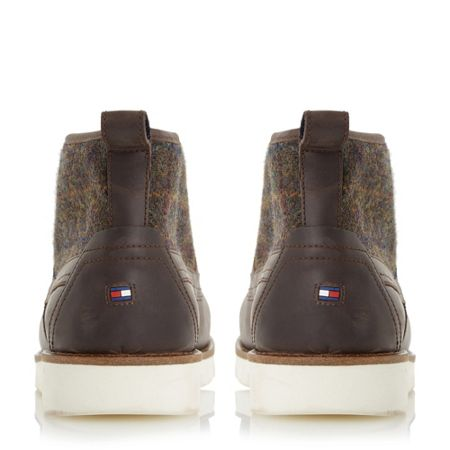 Tommy Hilfiger Case 2c1 tweed panel wedge boots