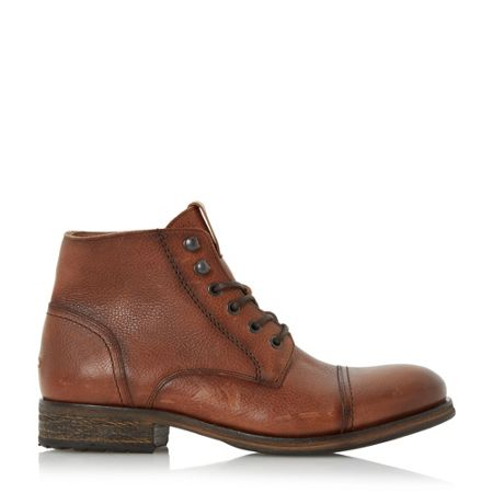 Tommy Hilfiger Dillan stitched detail lace up boots