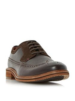 Hampton mixed material brogue shoes