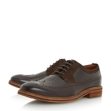 Tommy Hilfiger Hampton mixed material brogue shoes
