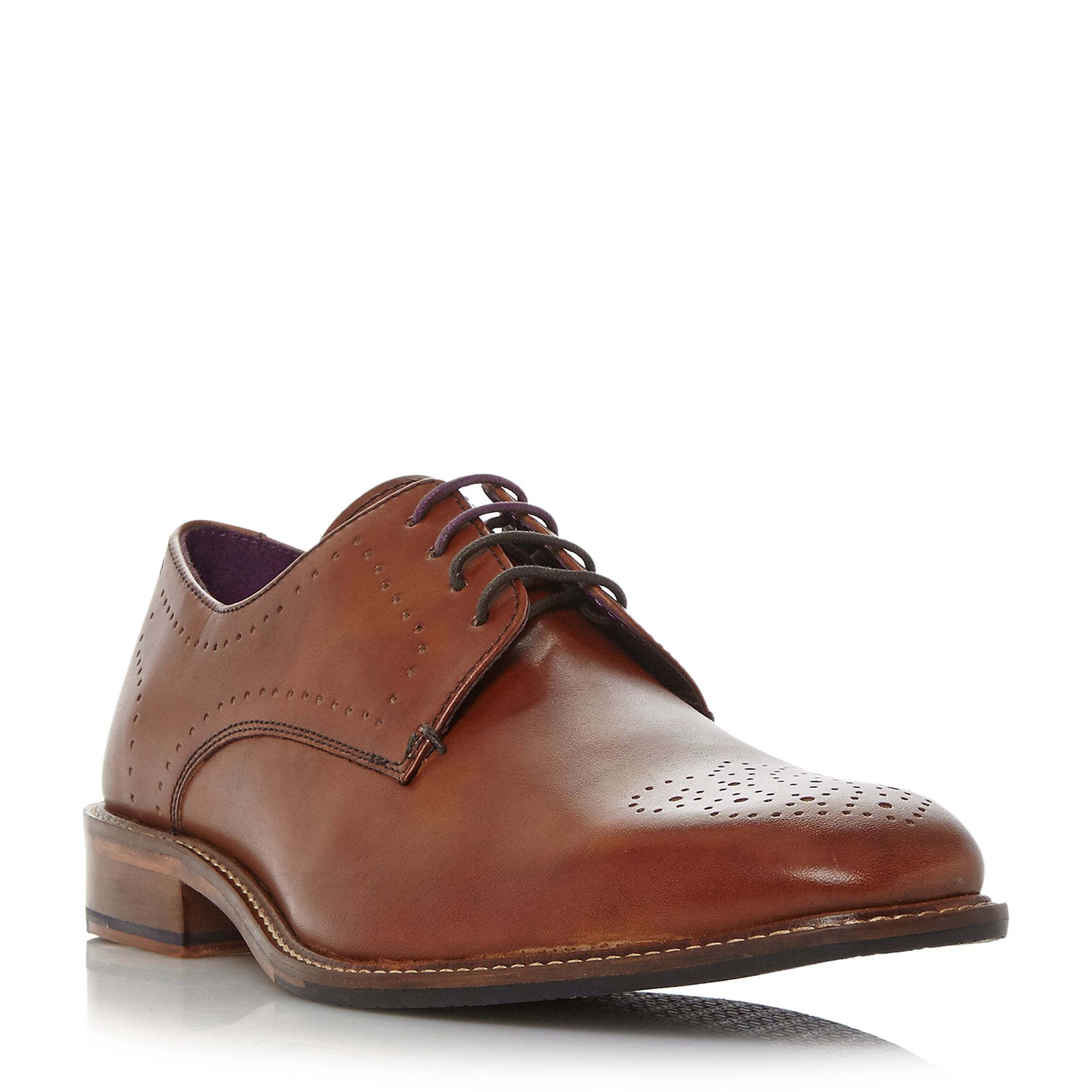 Ted Baker Marar punched derby formal shoes Tan
