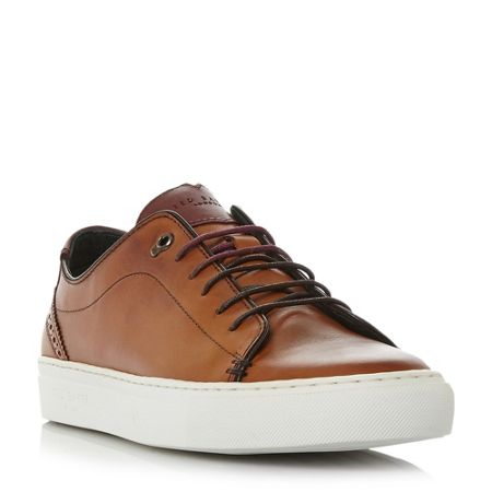 Ted Baker Kiing burnished cupsole trainers