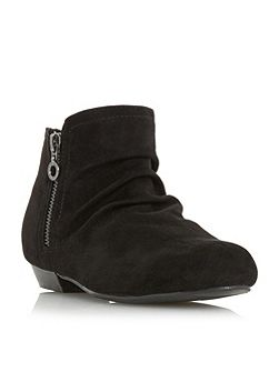 Pammy side zip detail ankle boots