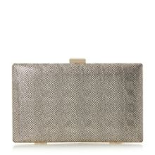 Head Over Heels Benata metallic box clutch bag