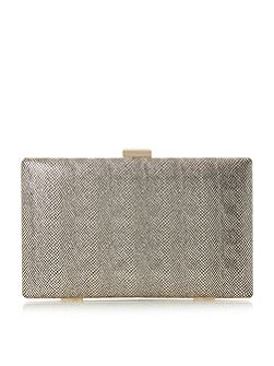 Benata metallic box clutch bag