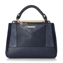 Dune Drayson patchwork top handle bag