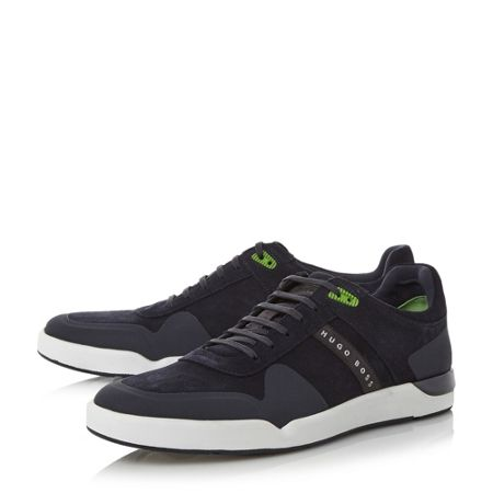 Hugo Boss Feather tenn rubber toe trainers
