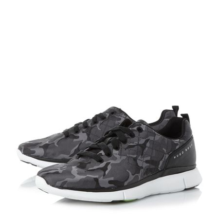 Hugo Boss Gym runn camo print trainers