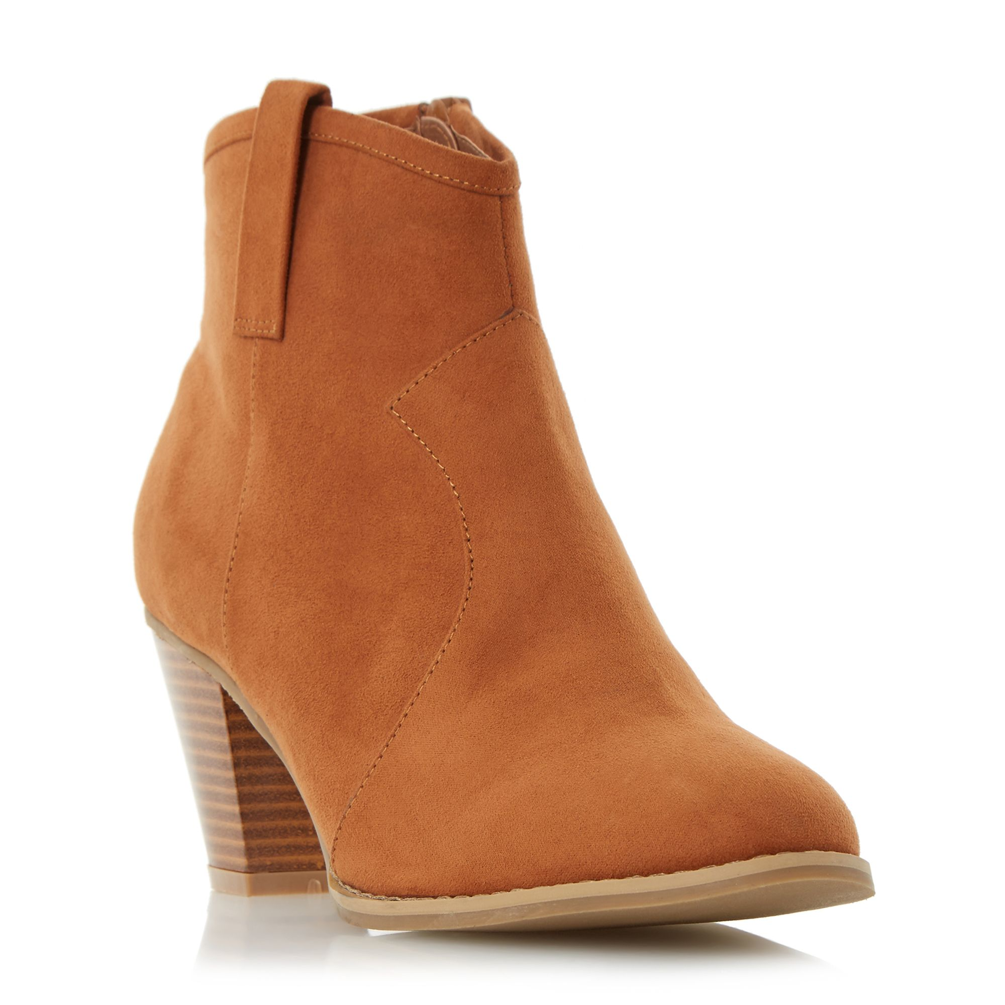 Head Over Heels Pacha western detail ankle boots Tan