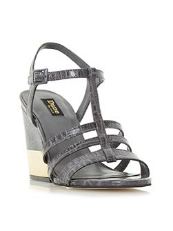 Jettison metal heel croc sandals