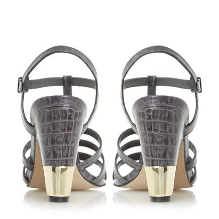 Dune Black Jettison metal heel croc sandals