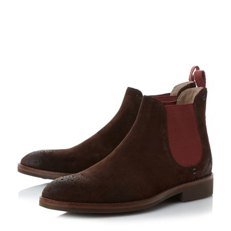 Oliver Sweeney Burrows rubber toe suede chelea boots