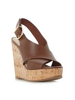 Karta cross strap wedge sandals