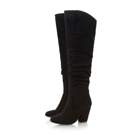 Head Over Heels Sula ruched detail knee high boots