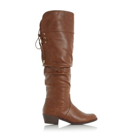Head Over Heels Tammy ruched knee high boots