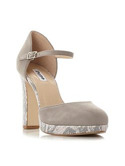 Chia platform block court shoes