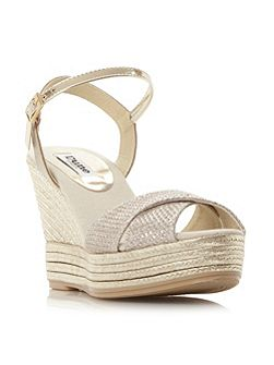 Dune Kitty luxe espadrille wedge sandals