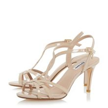 Dune Minie knotted strappy mid heel sandals