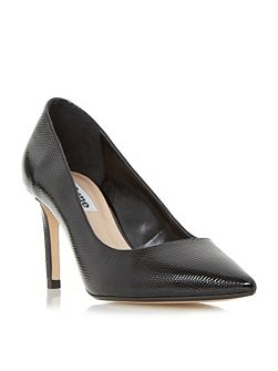 Abbigail point toe mid heel court shoes