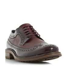 Dune Bongle mixed material brogue shoes