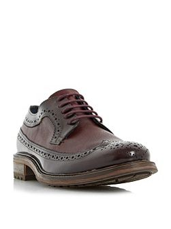 Bongle mixed material brogue shoes
