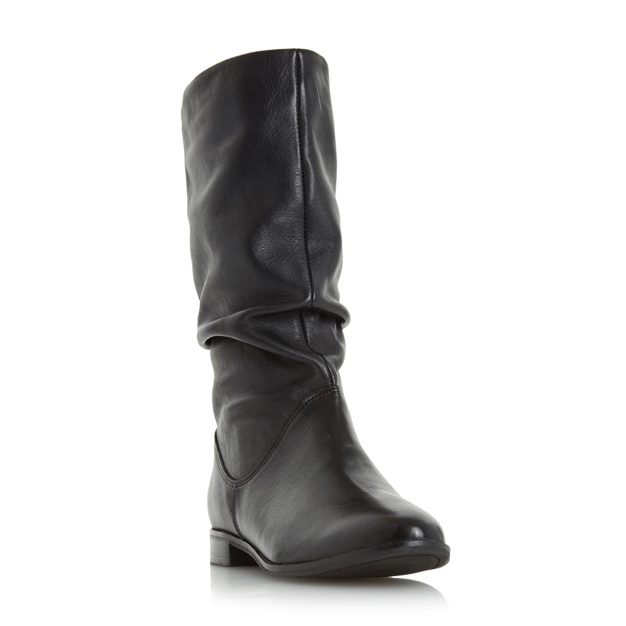 Dune Rosalind slouch calf boots Black
