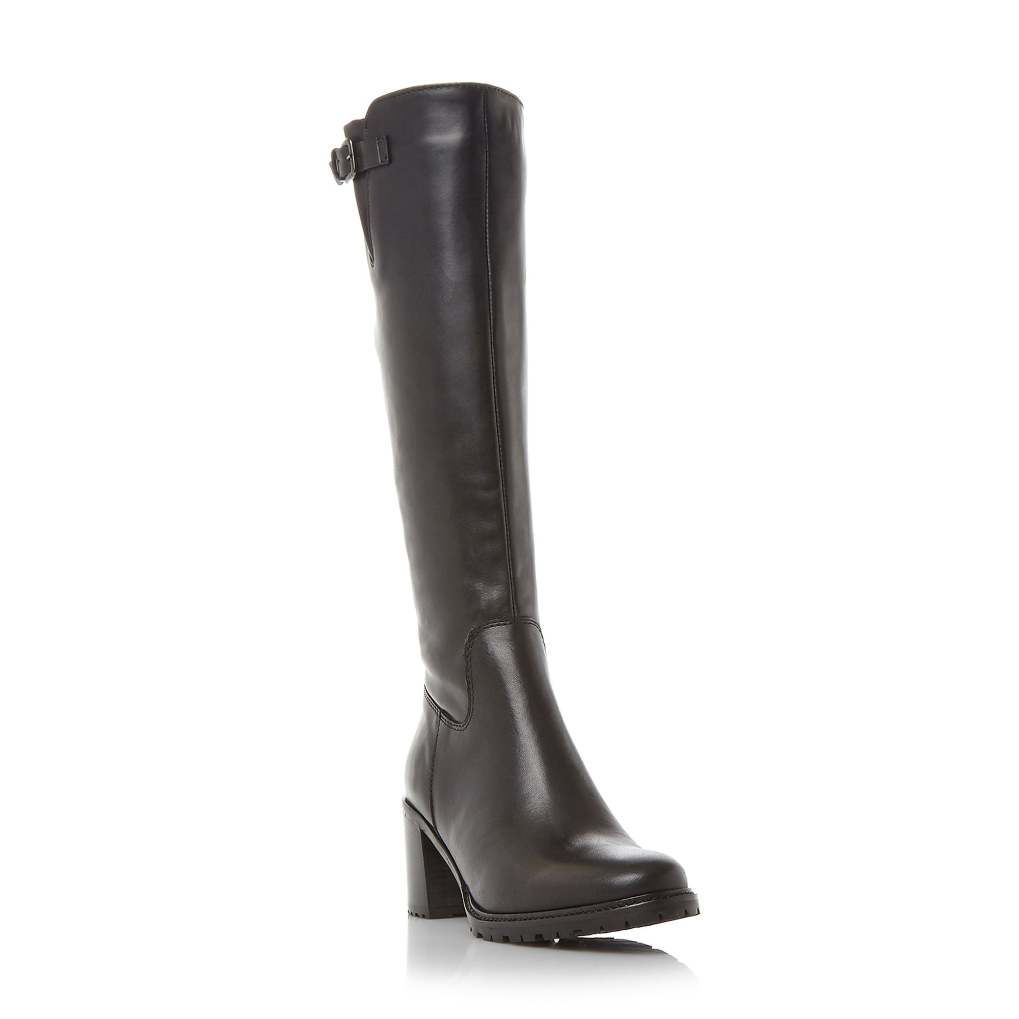 Dune Todd cleated high boots Black
