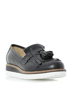 Gallaxie leather flatform loafer