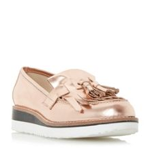 Dune Gallaxie leather flatform loafer