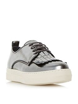 Eddy fringe detail lace up trainers