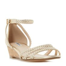 Dune Kassidy plaited strap wedge sandals