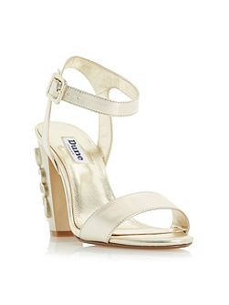 Mayflower floral block heel sandals