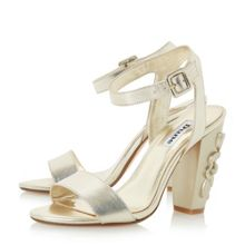 Dune Mayflower floral block heel sandals