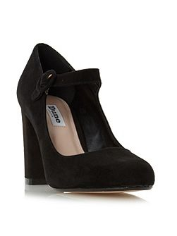 Armorel mary jane block court shoes