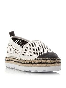 Georgina laser cut white sole shoes