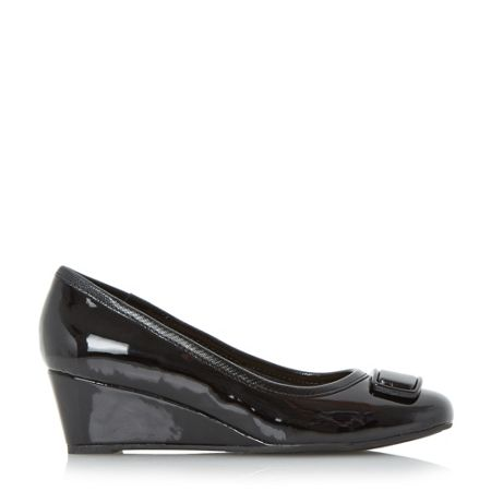 Linea Arla brooch detail wedge court shoes
