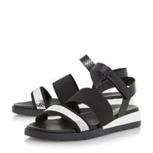 Dune Lightening multi strap flat sandals